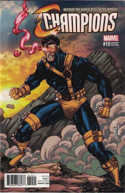 Champions #10 Jim Lee Cyclops X-Men Trading Card Variant Marvel 2017