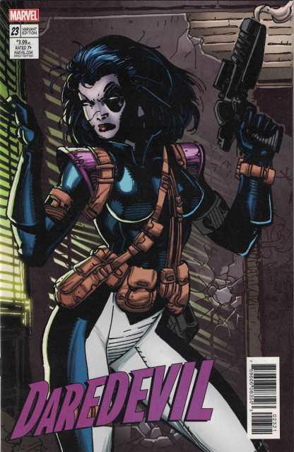 Daredevil #23 Jim Lee X-Men Trading Card Variant Domino Marvel 2016