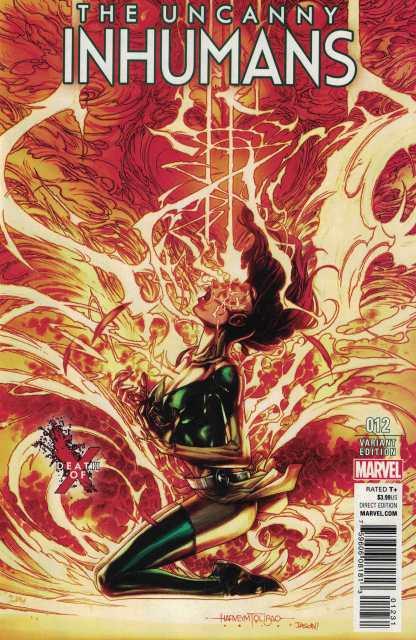 Uncanny Inhumans #12 Talibo Death of X Marvel ANAD 2015 Jean Grey