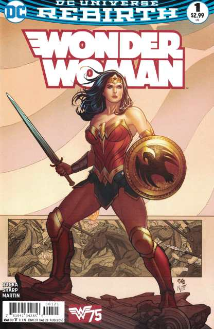 Wonder Woman #1 Frank Cho Variant Cover B DC Rebirth 2016