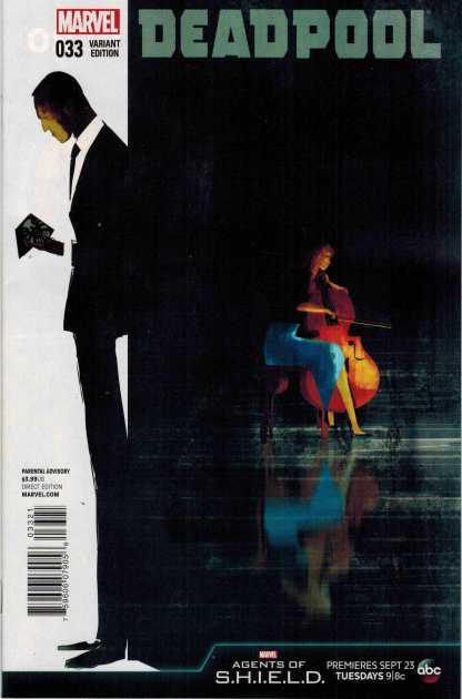 Deadpool #33 1:10 Agents of Shield Variant S.H.I.E.L.D.