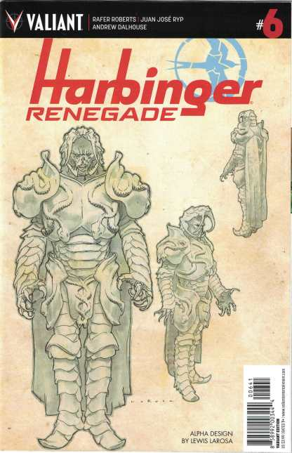Harbinger Renegade #6 1:10 Lewis LaRosa Character Design Valiant Variant 2016