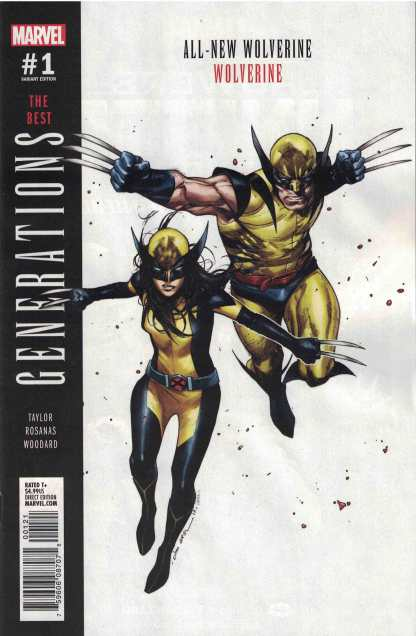 Generations Wolverine & All-New Wolverine Olivier Coipel Variant Marvel 2017