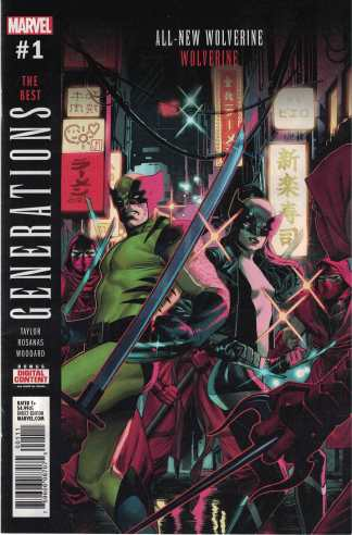 Generations Wolverine & All-New Wolverine Jorge Molina Main Cover Marvel 2017