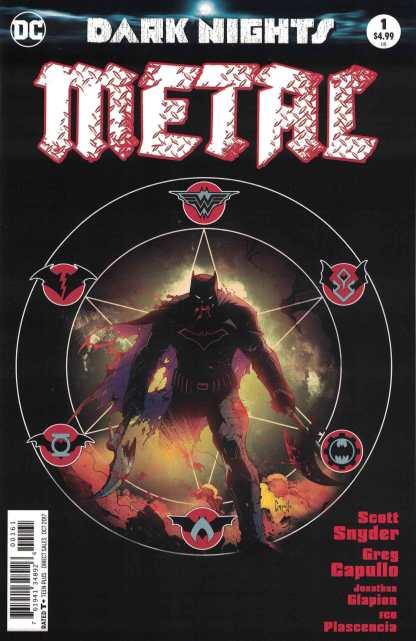 Dark Nights Metal #1 Greg Capullo Midnight Release Variant Marvel 2017 Color
