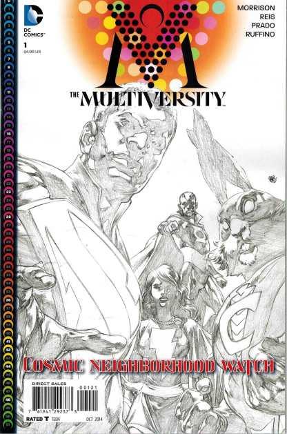 Multiversity #1 1:10 Ivan Reis Black and White Variant