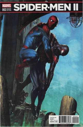 Spider-Men II #2 1:25 Garbiele Dell'Otto Variant Marvel 2017 Miles Morales Man