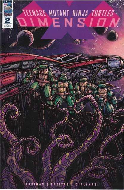 TMNT Dimension X #2 1:10 Kevin Eastman Variant IDW Publishing 2017