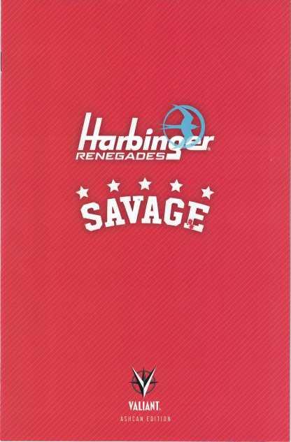 Harbinger Renegades #1 Savage #1 Ashcan Edition Diamond Summit Valiant Variant