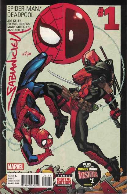 Spider-Man Deadpool #1 LTD Red Nicieza Signature Dynamic Forces 2016 COA
