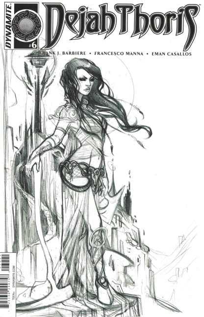 Dejah Thoris #6 1:10 Chang Black & White Sketch Variant Dynamite 2016