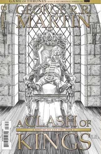 Game of Thrones Clash of Kings #3 1:10 Miller B&W Sketch CVR C Dynamite 2017