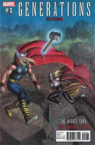 Generations #1 Mighty Thor Unworthy Thor 1:25 Das Pastoras Variant Marvel 2017