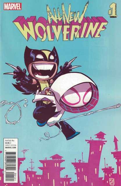 All New Wolverine Annual #1 Skottie Young Marvel Variant Spider-Gwen ANAD