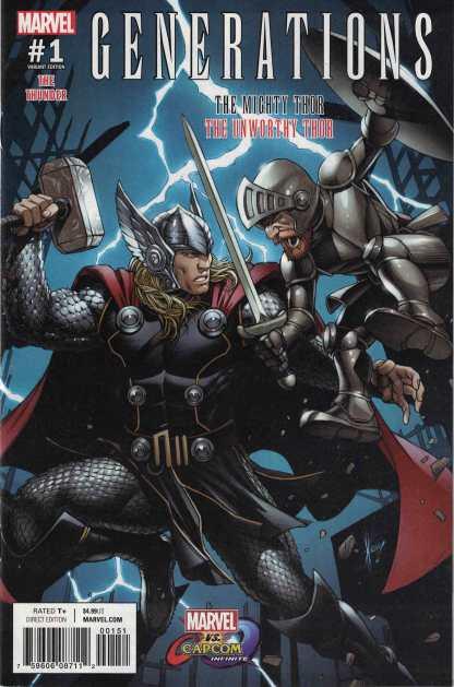 Generations Thor Unworthy Mighty #1 Marvel vs Capcom Variant 2017