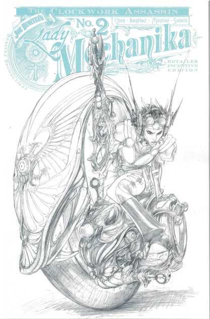 Lady Mechanika Clockwork Assassin #2 1:10 Joe Benitez B&W Sketch Variant 2017