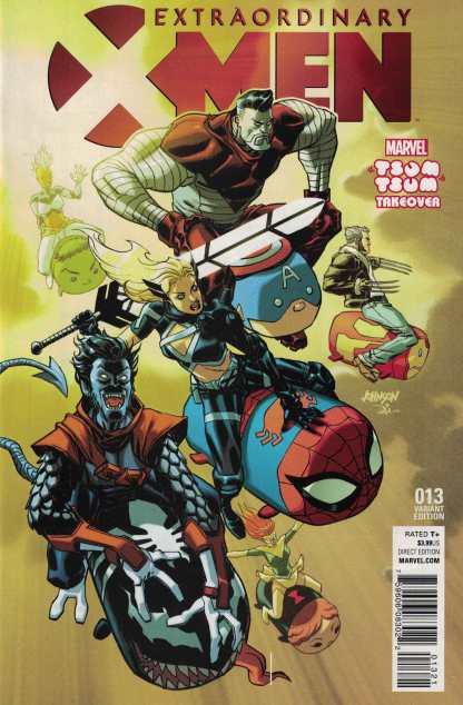 Extraordinary X-Men #13 Johnson Tsum Tsum Takeover Variant Marvel 2015 ANAD