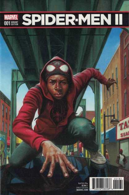 Spider-Men II #1 1:10 Kadir Nelson Variant Marvel 2017 Miles Morales