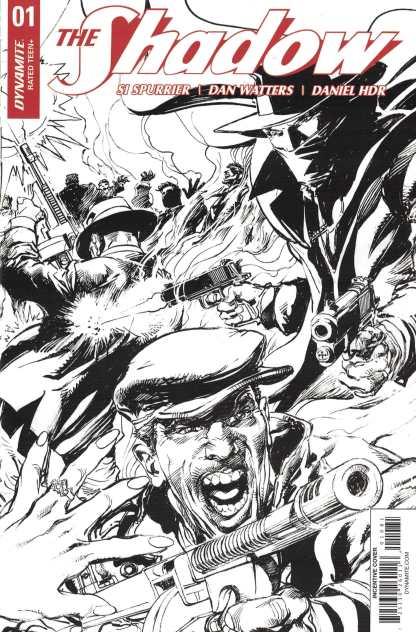 The Shadow #1 1:30 Neal Adams Variant Cover H B&W Sketch Dynamite 2017