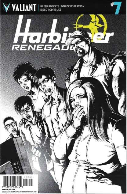 Harbinger Renegade #7 1:50 Darick Robertson B&W Valiant Variant 2016