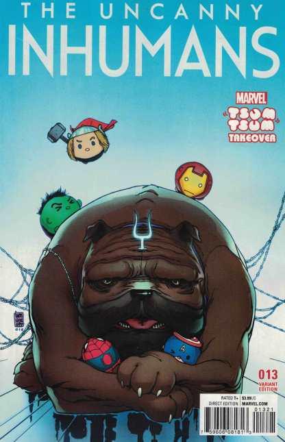Uncanny Inhumans #13 Camuncoli Marvel Tsum Tsum Takeover Variant ANAD 2015