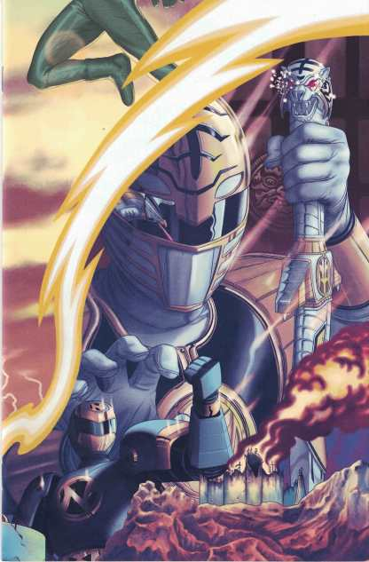 Mighty Morphin Power Rangers #18 1:20 Steve Morris Connecting Variant Boom!