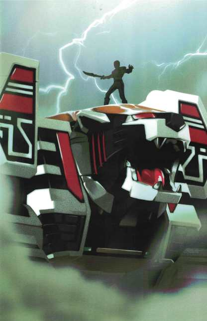 Mighty Morphin' Power Rangers #7 1:25 Montes White Tiger Zord Variant 2016