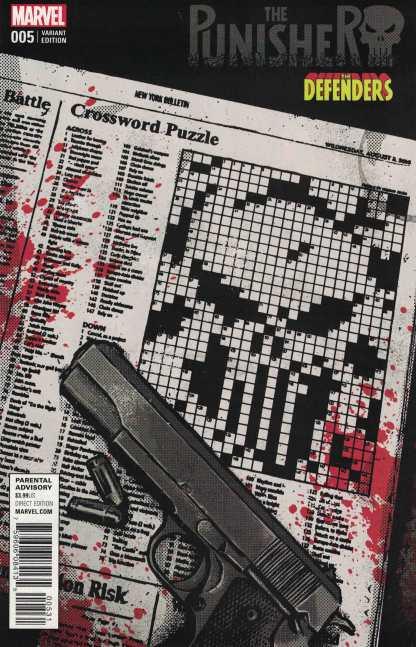 Punisher #5 David Aja Defenders Variant Marvel ANAD 2016 Cloonan Dillon