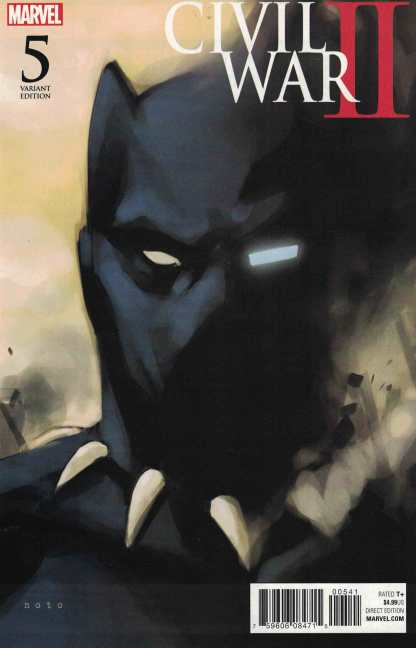 Civil War II #5 1:10 Phil Noto Black Panther Variant Marvel ANAD 2016
