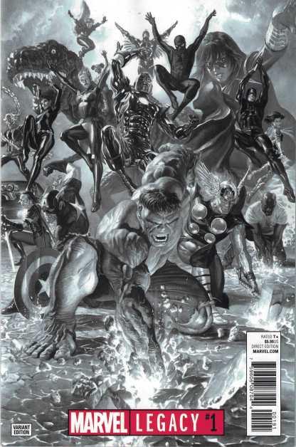 Marvel Legacy #1 1:100 Alex Ross Avengers Sketch B&W Variant 2017