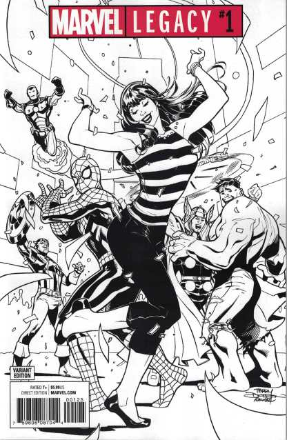 Marvel Legacy #1 One Per Store Party Sketch B&W Variant 2017