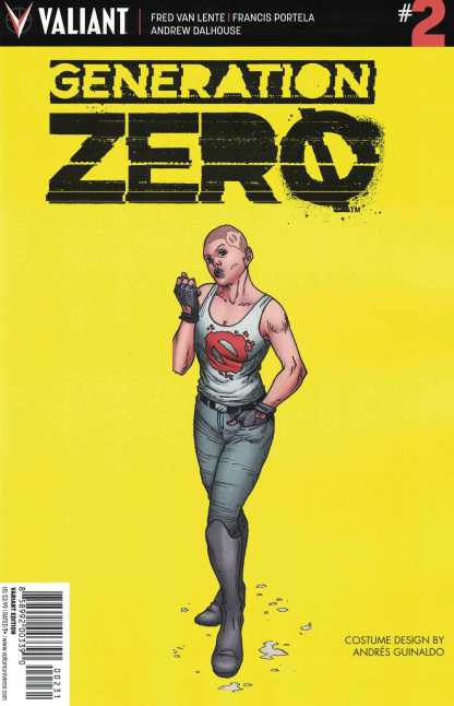 Generation Zero #2 1:10 Guidano Character Design Variant Cover C Valiant 2016