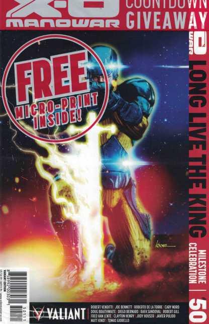 X-O Manowar #50 1:20 Kaare Kyle Andrews Variant Cover K Valiant