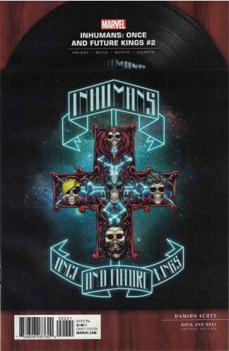 Inhumans Once and Future Kings #2 1:5 Scott Guns Roses Rock N Roll Variant