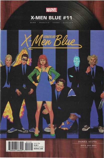 X-Men Blue #11 1:5 Daniel Acuna Blondie Rock and Roll Variant Marvel 2017