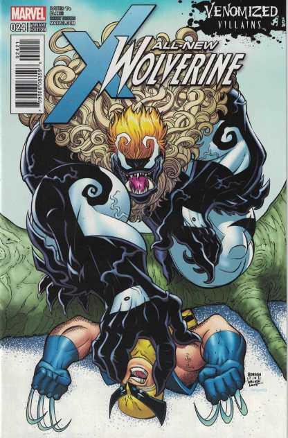 All-New Wolverine #24 Will Robson Venomized Sabretooth Variant Marvel 2014 X-23
