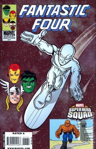 Fantastic Four #571 1:10 Marcelo Dichiara Super Hero Squad Variant Marvel 1998