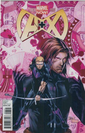 A+X #3 1:20 Billy Tan Variant Marvel Now 2012 Hawkeye Gambit Avengers Plus X-Men