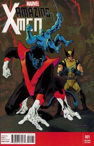 Amazing X-Men #1 1:75 Kevin Nowlan Variant Marvel NOW 2013 Nightcrawler