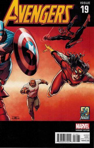 Avengers #19 John Cassaday 2000's Variant 50 Years of Avengers Hickman Infinity