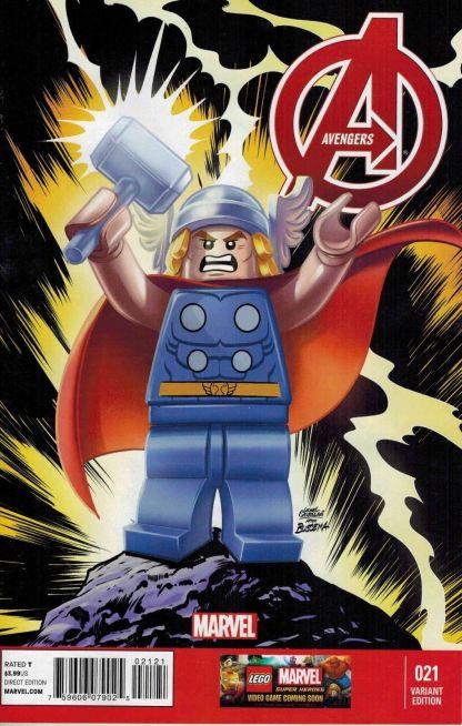 Avengers #21 1:25 Castellani Lego Color Variant Marvel NOW 2012 Thor
