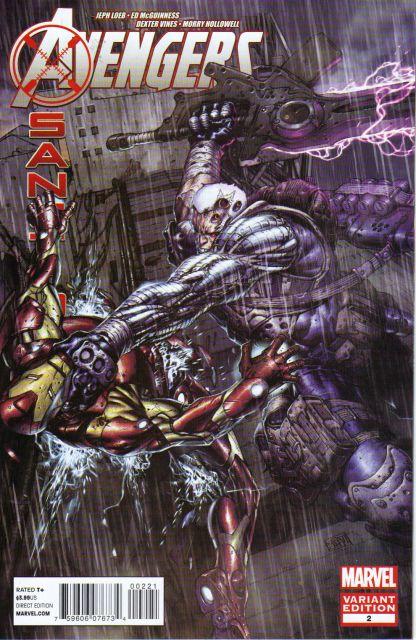 Avengers X-Sanction #2 1:50 Platt Variant Marvel 2012 Cable