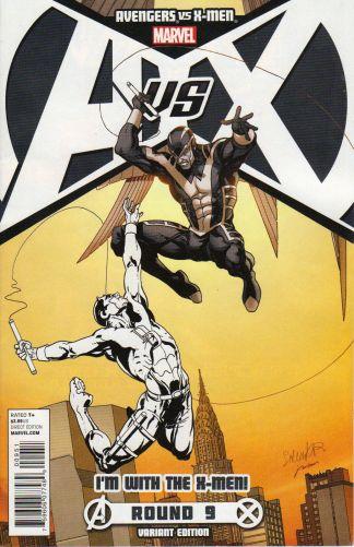 Avengers vs X-Men #9 I'm With the X-Men Team Larroca Variant Archangel Marvel 2012