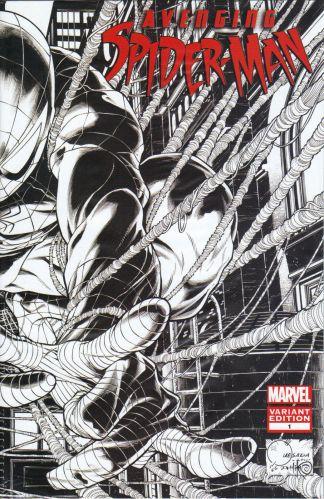 Avenging Spider-Man #1 1:200 Joe Quesada B&W Sketch Variant Marvel 2011