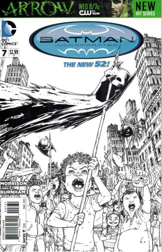 Batman Incorporated #7 black and white sketch cover variant New 52