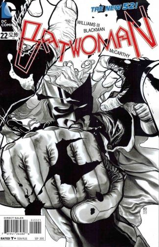 Batwoman #22 Black and White JH Williams III Sketch Variant
