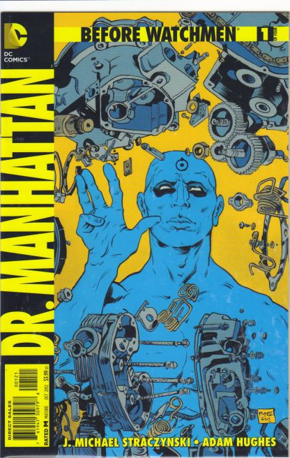 Before Watchmen Dr Manhattan #1 1:25 Paul Pope Variant DC Rebirth 2012