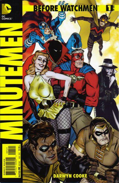 Before Watchmen Minutemen #1 1:25 Michael Golden Variant DC 2012