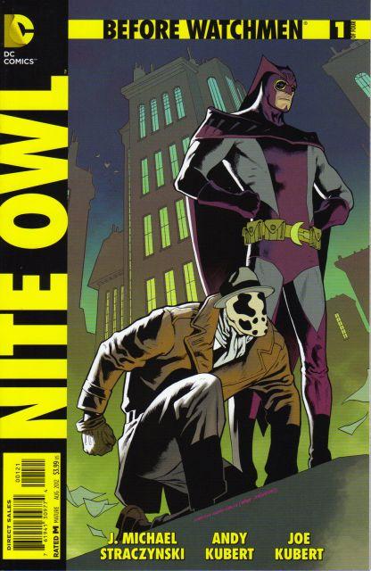 Before Watchmen Nite Owl #1 1:25 Kevin Nowlan Variant DC 2012