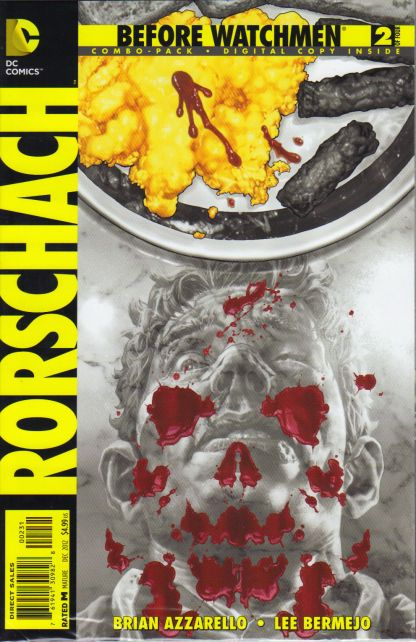 Before Watchmen Rorschach #2 Digital Combo Pack Variant DC 2012 Sealed